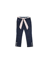U.S. Polo Assn. Kids Girls Dark Blue Slim Fit Jeans