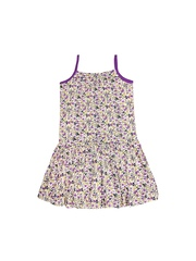 U.S. Polo Assn. Kids Girls White Printed Dress
