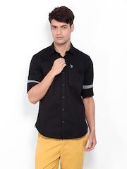 U.S. Polo Assn. Men Black Casual Shirt