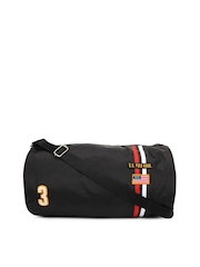U.S. Polo Assn. Men Black Duffle Bag