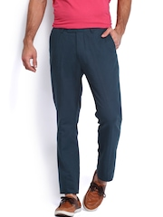 U.S. Polo Assn. Men Navy Tapered Fit Trousers
