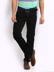 U.S. Polo Assn. Men Black Tapered Fit Jeans