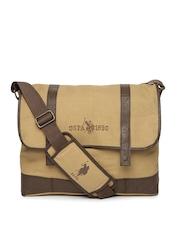 U.S. Polo Assn. Men Brown Laptop Bag