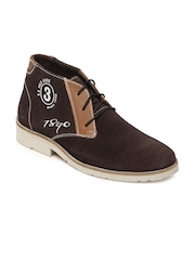 U.S. Polo Assn. Men Brown Suede Casual Shoes