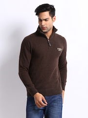 U.S. Polo Assn. Men Brown Sweater