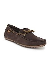 U.S. Polo Assn. Men Brown Leather Loafers