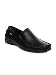 U.S. Polo Assn. Men Black Leather Casual Shoes