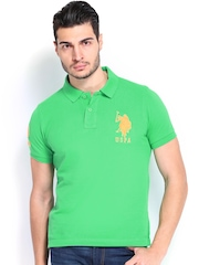 U.S. Polo Assn. Men Green Polo T-shirt