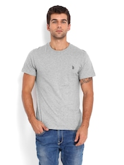 U.S. Polo Assn. Men Grey Melange T-shirt