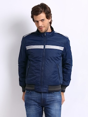 U.S. Polo Assn. Men Black & Blue Reversible Padded Jacket