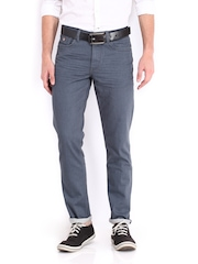 U.S. Polo Assn. Men Grey Slim Tapered Fit Jeans