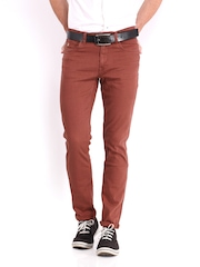 U.S. Polo Assn. Men Rust Brown Slim Tapered Fit Jeans