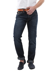 U.S. Polo Assn. Men Blue Slim Tapered Fit Jeans