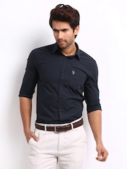U.S. Polo Assn. Men Navy Tailored Fit Casual Shirt