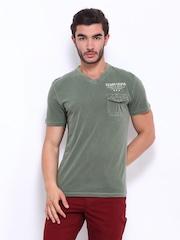 U.S. Polo Assn. Men Olive Green T-shirt