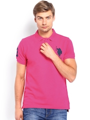 U.S. Polo Assn. Men Pink Polo T-shirt