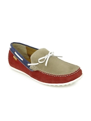 U.S. Polo Assn. Men Red & Brown Boat Shoes