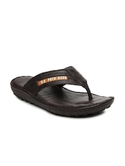 U.S. Polo Assn. Men Brown Leather Sandals
