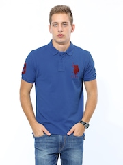 U.S. Polo Assn. Men Blue Polo T-shirt