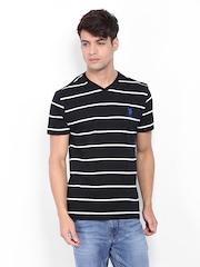 U.S. Polo Assn. Men Black & White Striped T-shirt