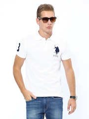 U.S. Polo Assn. Men White Polo T-shirt