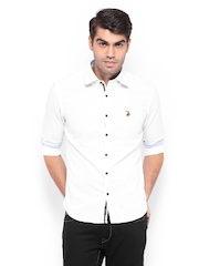 U.S. Polo Assn. Men White Casual Shirt