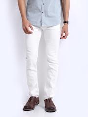 U.S. Polo Assn. Men White Skinny Fit Jeans