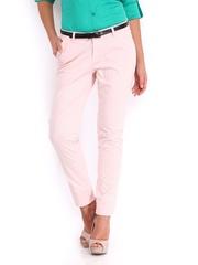 U.S. Polo Assn. Women Pink Comfort Fit Trousers
