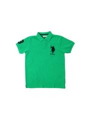 U.S.Polo Assn. Kids Boys Green Polo T-Shirt