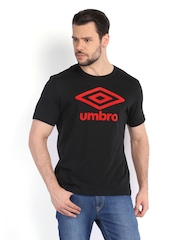 Umbro Men Black Printed T-shirt