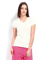 Undercolours Of Benetton Women White T-shirt 14A3NT50401DI United Colors Of Benetton