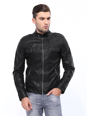United Colors of Benetton Men Black Jacket