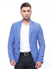 United Colors of Benetton Blue Linen Textured Blazer