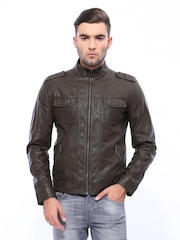 United Colors of Benetton Men Brown Jacket