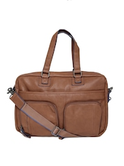 United Colors Of Benetton Tan Brown Laptop Bag