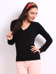United Colors Of Benetton Women Black Sweater