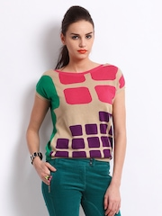 United Colors Of Benetton Women Multi-Coloured Sweater