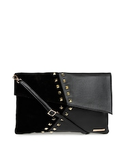 United Colors of Benetton Black Oversized Clutch