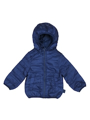 United Colors of Benetton Boys Dark Blue Hooded Jacket