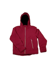 United Colors of Benetton Boys Maroon Hooded Jacket