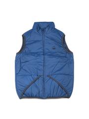 United Colors of Benetton Boys Blue Padded Sleeveless Jacket