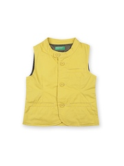 United Colors of Benetton Boys Yellow Waistcoat