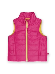 United Colors of Benetton Girls Neon Pink Padded Bomber Jacket