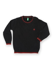 United Colors of Benetton Boys Wool Blend Black Sweater