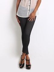 United Colors of Benetton Charcoal Grey Cropped Jeggings