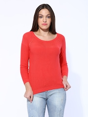 United Colors of Benetton Coral Red Sweater