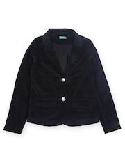 United Colors of Benetton Girls Black Jacket