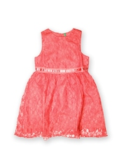 United Colors of Benetton Girls Pink Fit & Flare Dress