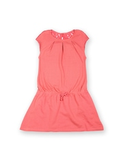 United Colors of Benetton Girls Coral Pink Shift Dress