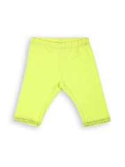 United Colors of Benetton Girls Fluorescent Green Leggings
